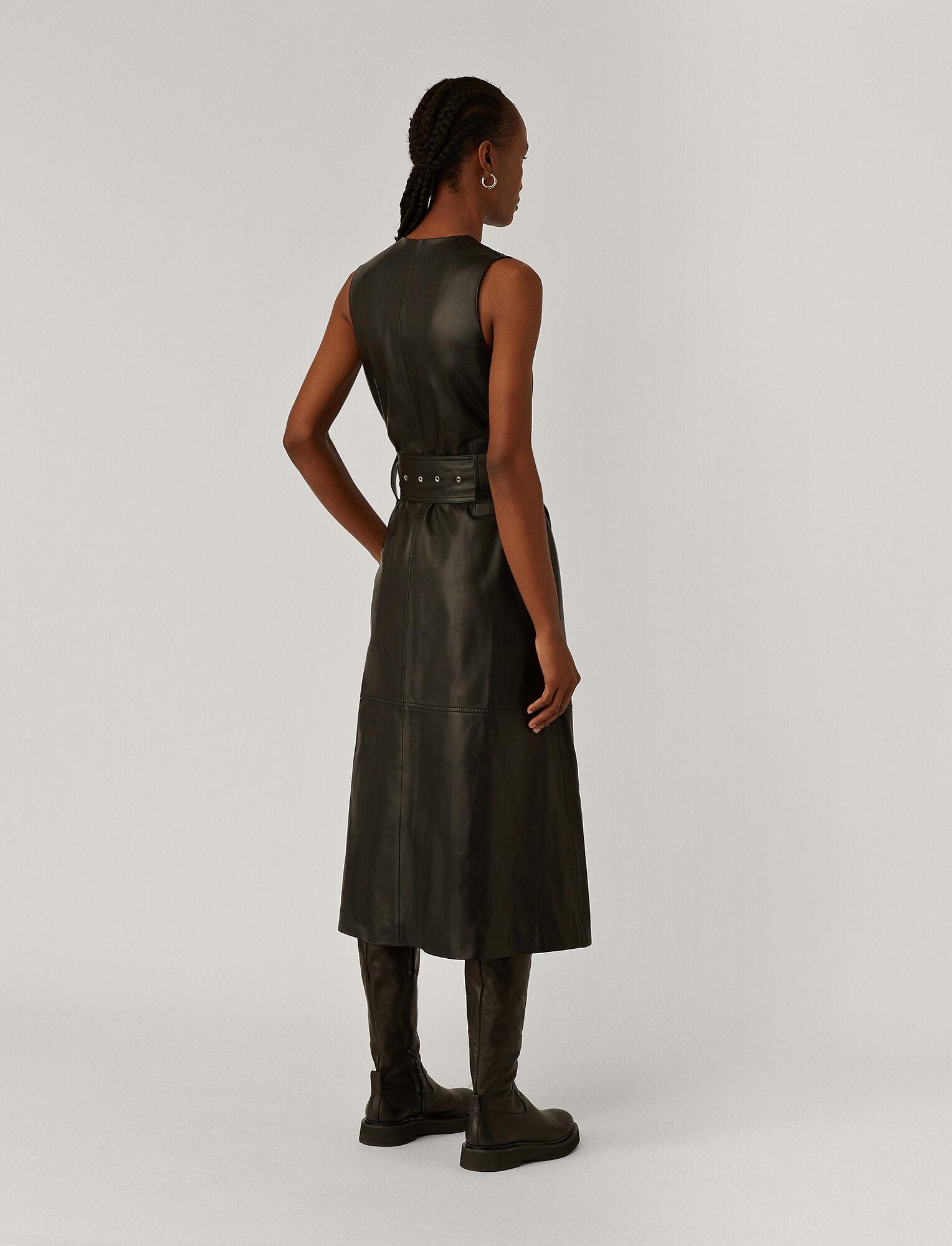 Joseph, Dibo Nappa Leather Dress, in Black