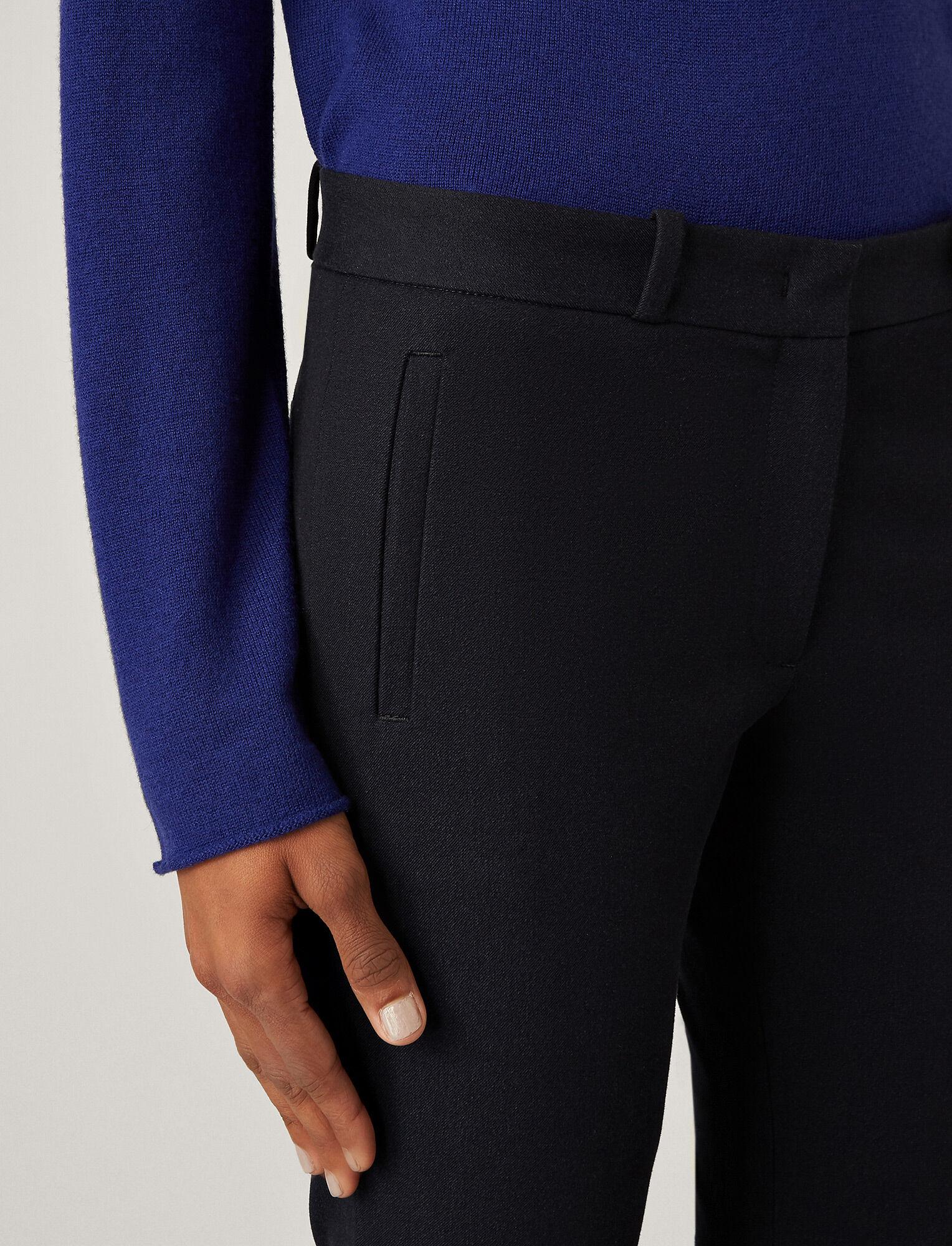 Joseph, New Eliston Gabardine Stretch Trousers, in NAVY