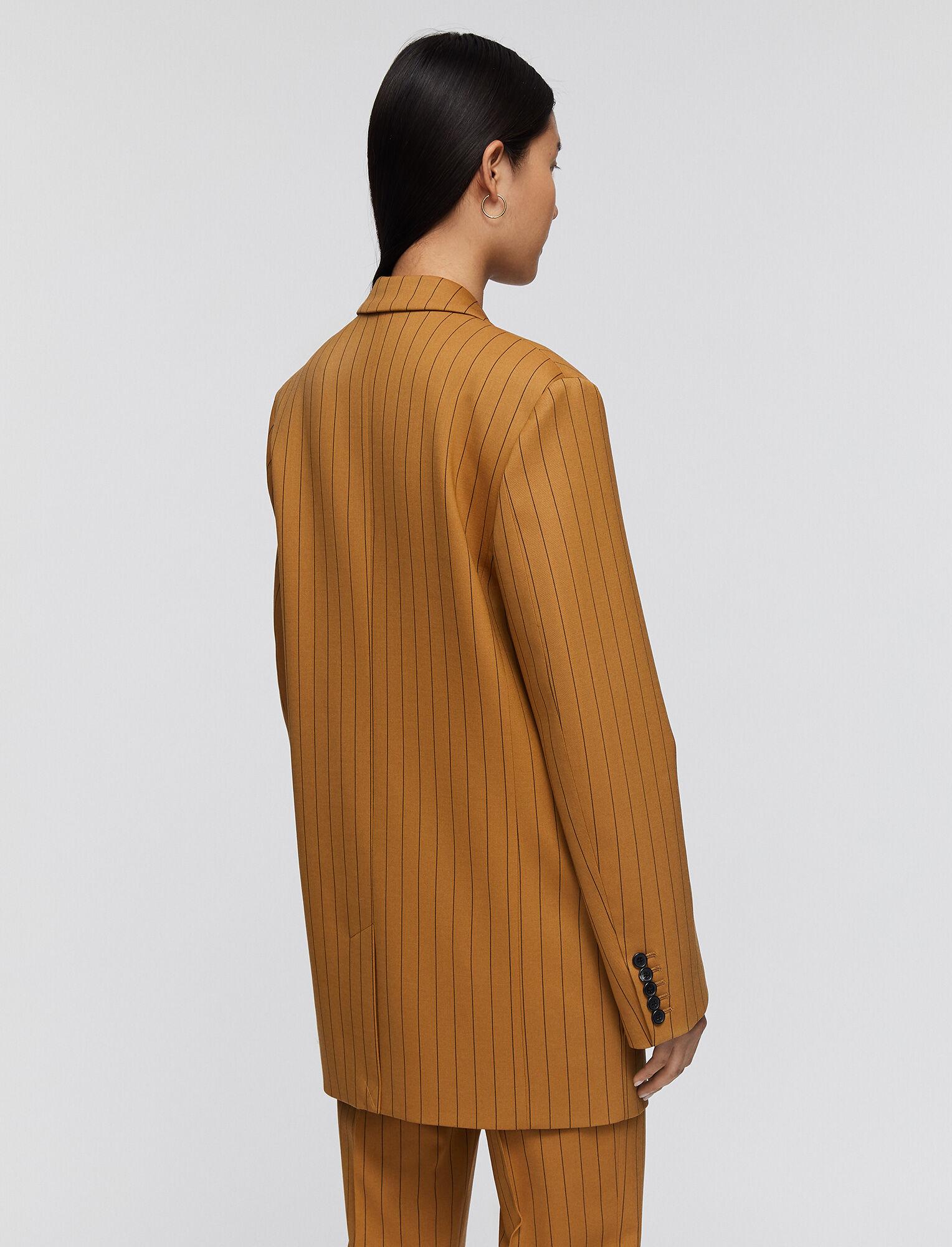 Joseph, Wool Spring Stripe Jules Jacket, in OAK