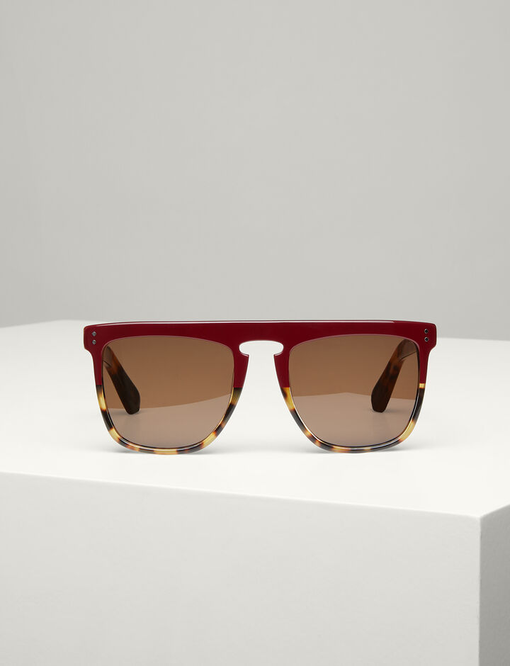 Joseph, Madison Sunglasses, in BURGUNDY/TORTOISE