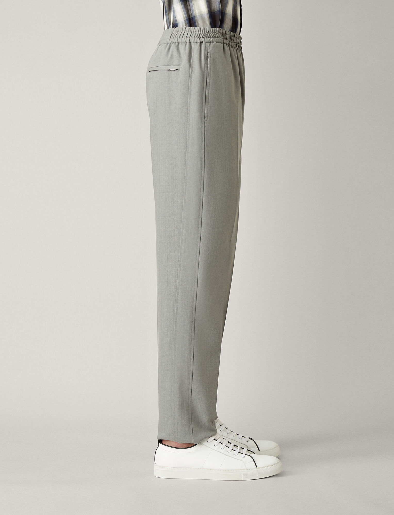 Joseph, Ettrick Fine Comfort Wool Trousers, in GREY CHINE