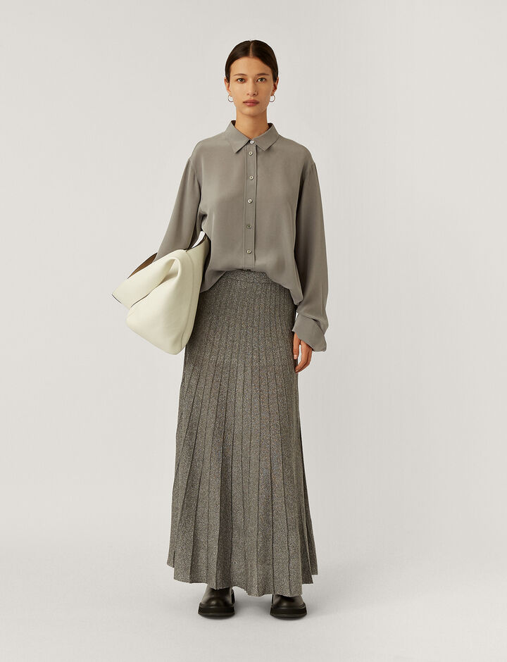 Joseph, Skirt-Lurex, in ANTHRACITE