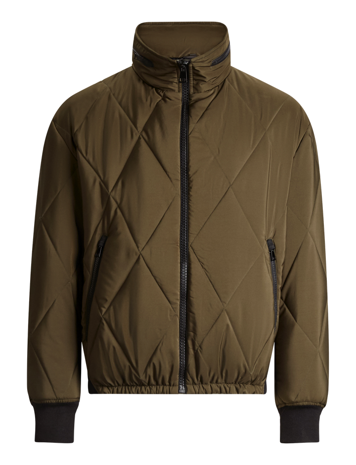 Joseph, Boland Quilted Diamond Coat, in MILITARY