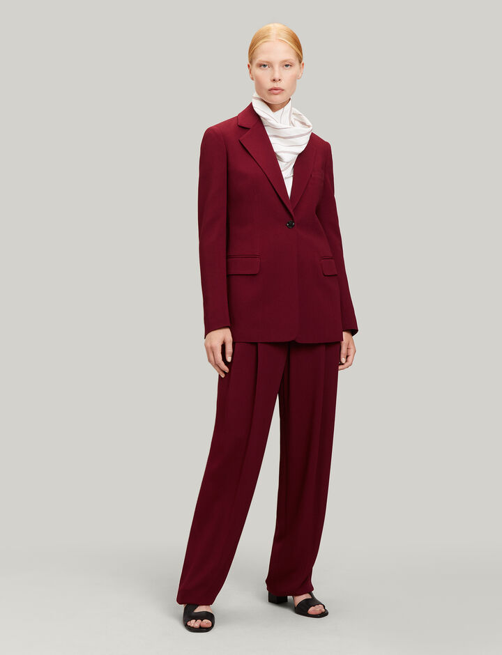 Joseph, Laetitia Viscose Cady Jacket, in RUBY