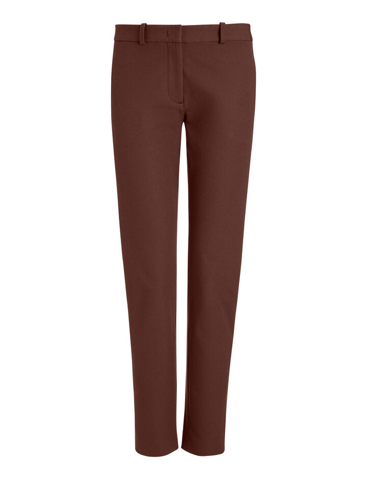 Joseph, New Eliston Gabardine Str Trousers, in Ganache