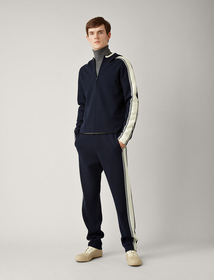 Joseph, Sportwear Milano Knit Hoody, in NAVY