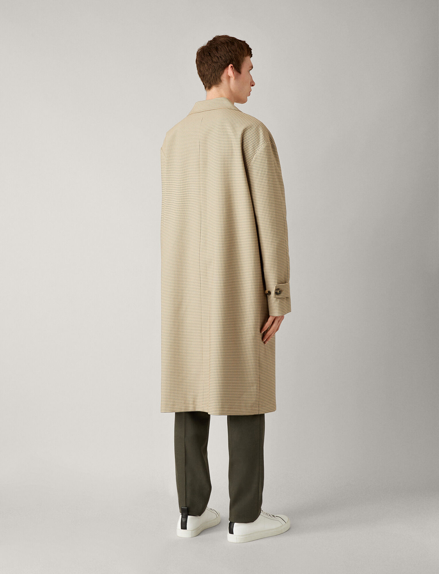 Joseph, Florence Houndstooth Coat, in CAMEL