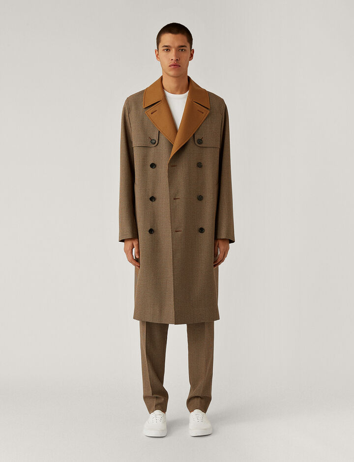 Joseph, Covert Cloth Combi Coat Coats, in Bronze