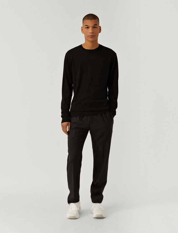 Joseph, Techno Wool Stretch Eza Trousers, in BLACK