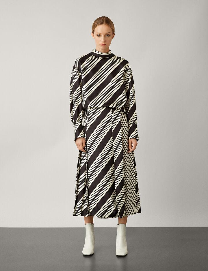 Joseph, Olwen Diagonal Stripe Blouse, in BLACK