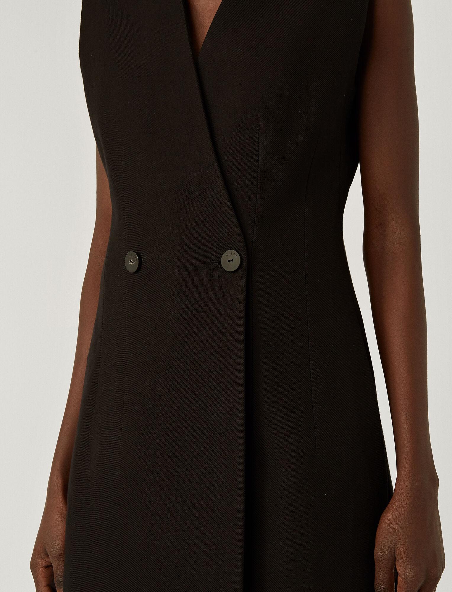 Joseph, Pure Cotton Twill Ciling Coat, in BLACK
