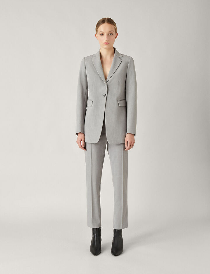 Joseph, Lorenzo Comfort Wool Jacket, in GREY