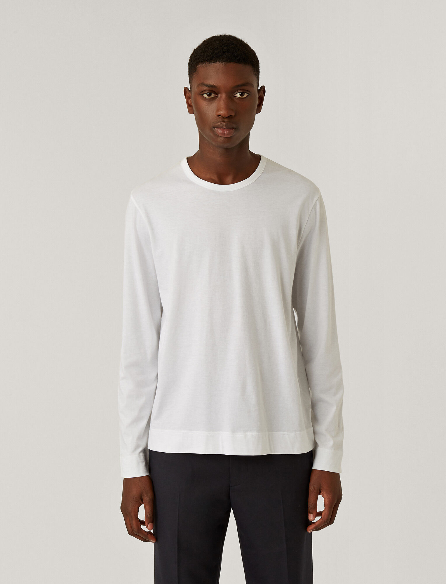 Joseph, Mercerised Jersey Top, in WHITE