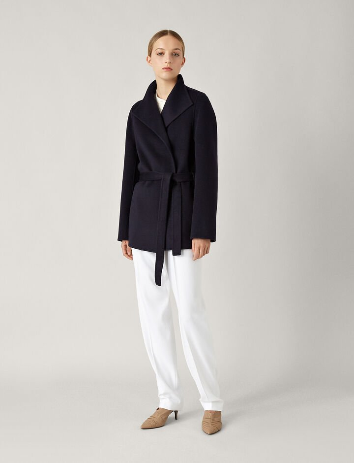 Joseph, Lima Short Double Face Cashmere Coat, in NAVY