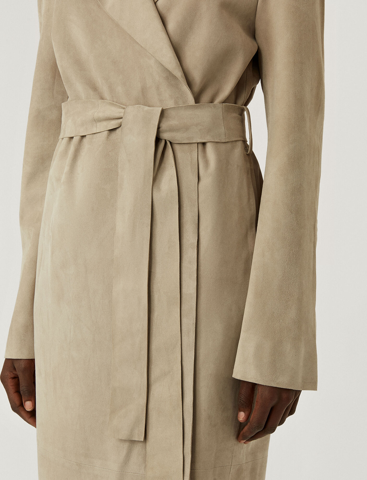 Joseph, Suede June Coat, in CLOUD