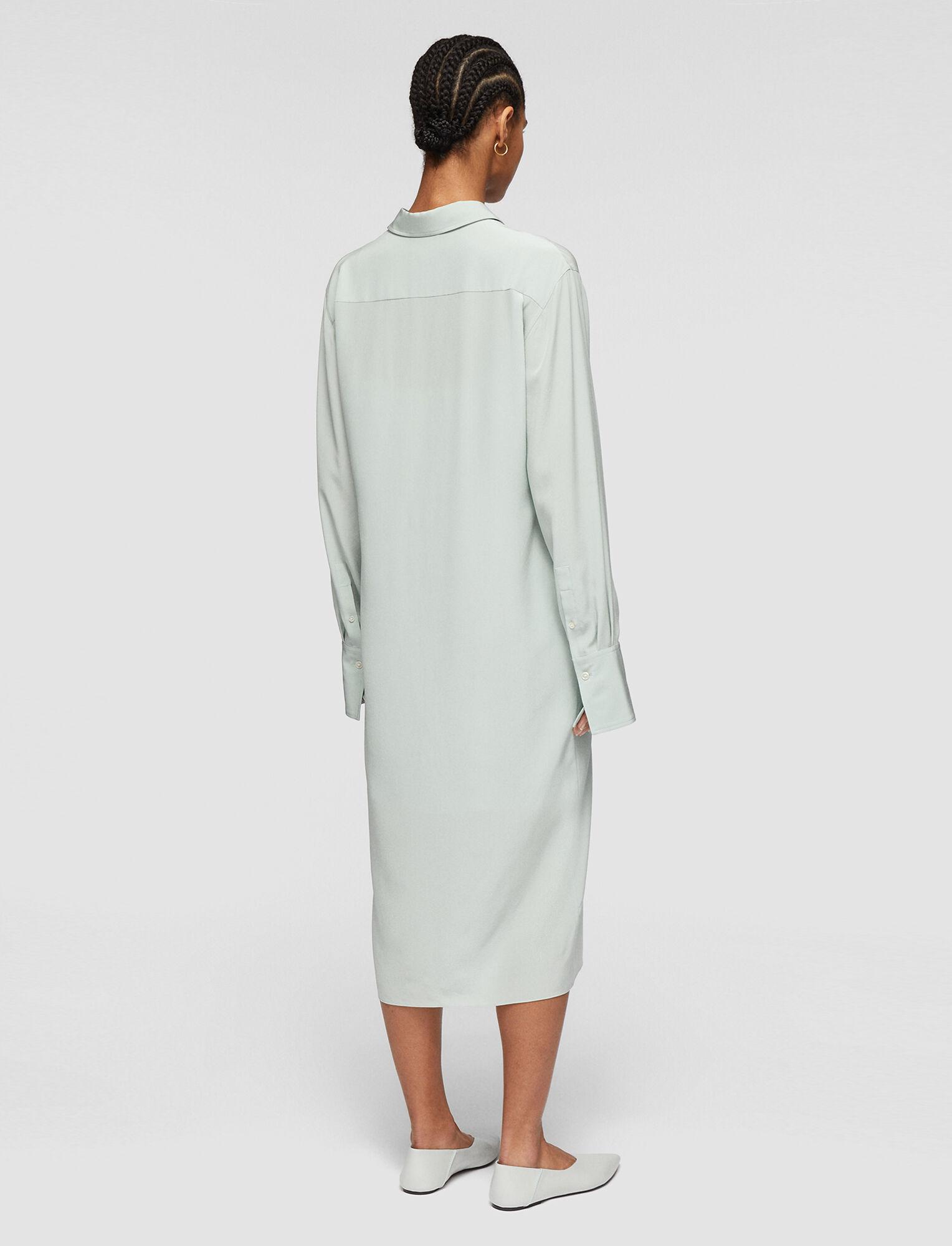 Joseph, Crepe de Soie Dold Dress, in MINT