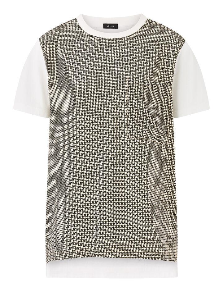 Joseph, Tee-Jersey + Cravate Print, in WHITE