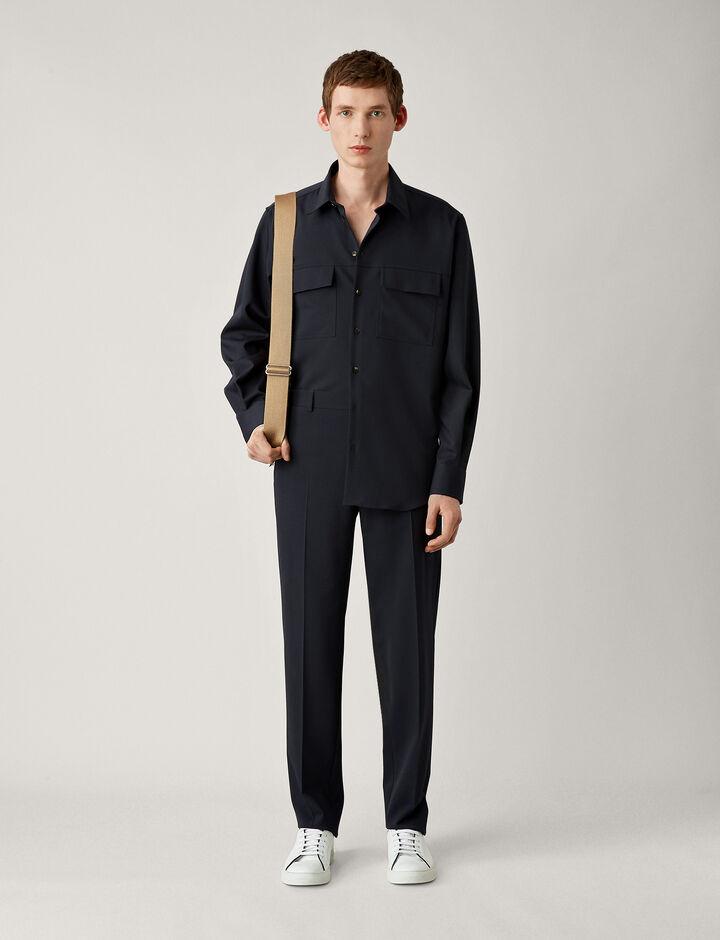 Joseph, Jack-Fine Comfort Wool, in NAVY