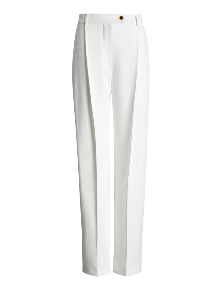 Joseph, Arbala Stretch Acetate Viscose Trousers, in WHITE