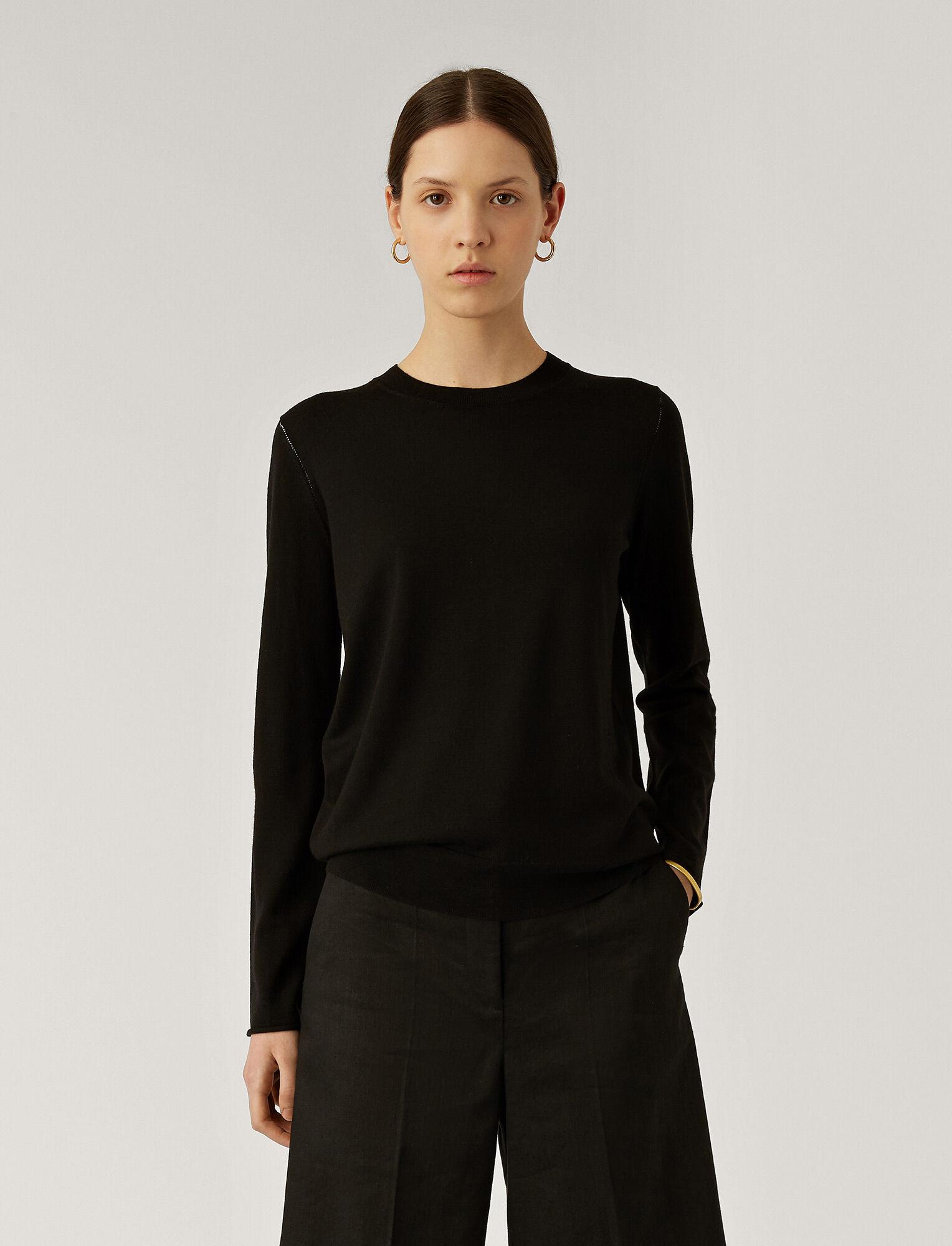 Joseph, Fine Merinos Knit, in BLACK