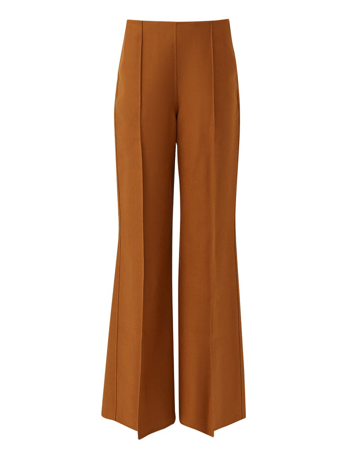 Joseph, Talou Stretch Double Face Trousers, in Cognac
