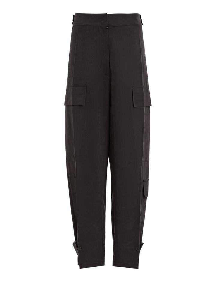 Joseph, Ronni Fuji Silk Trousers, in BLACK