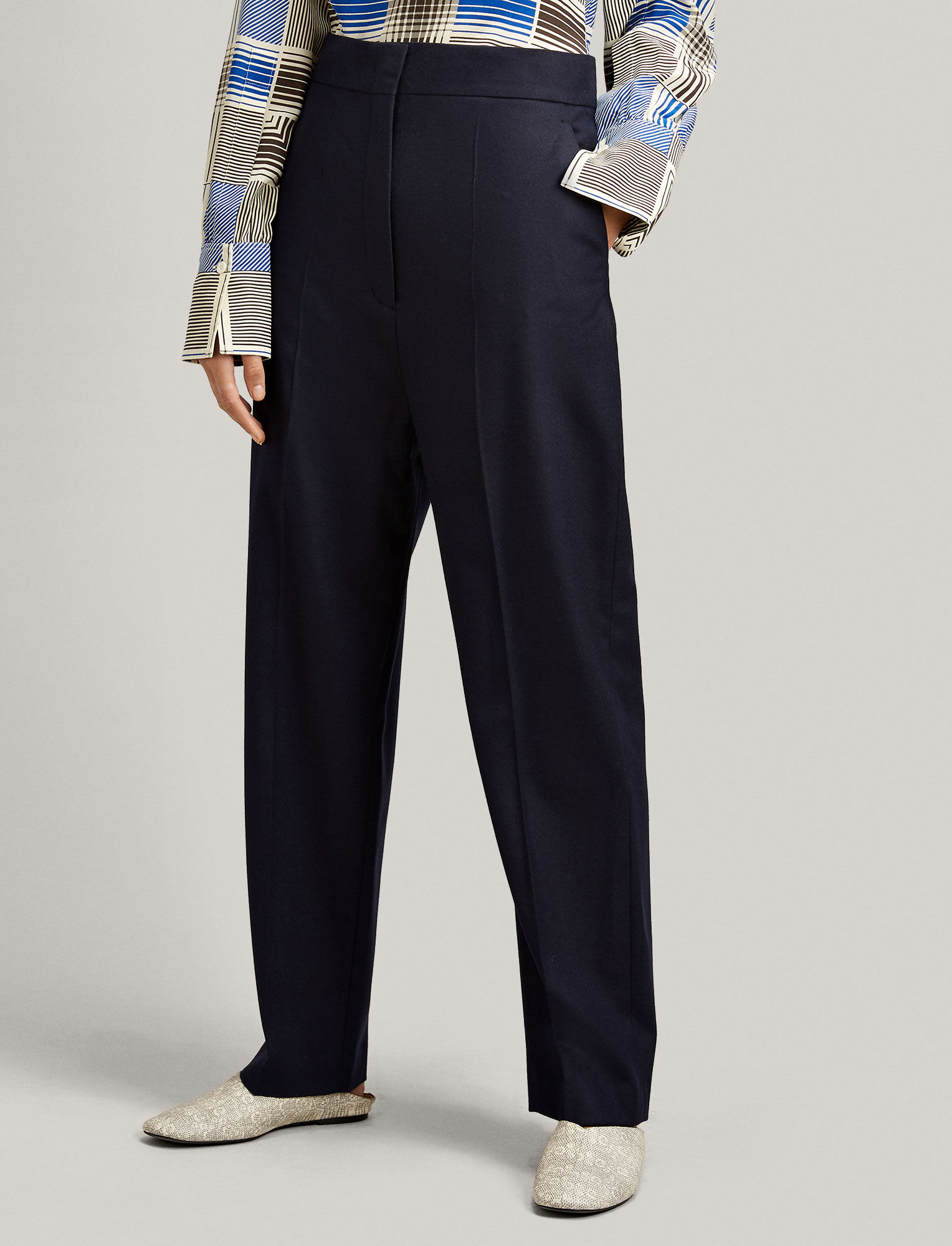 Joseph, Haim Flannel Stretch Trousers, in NAVY