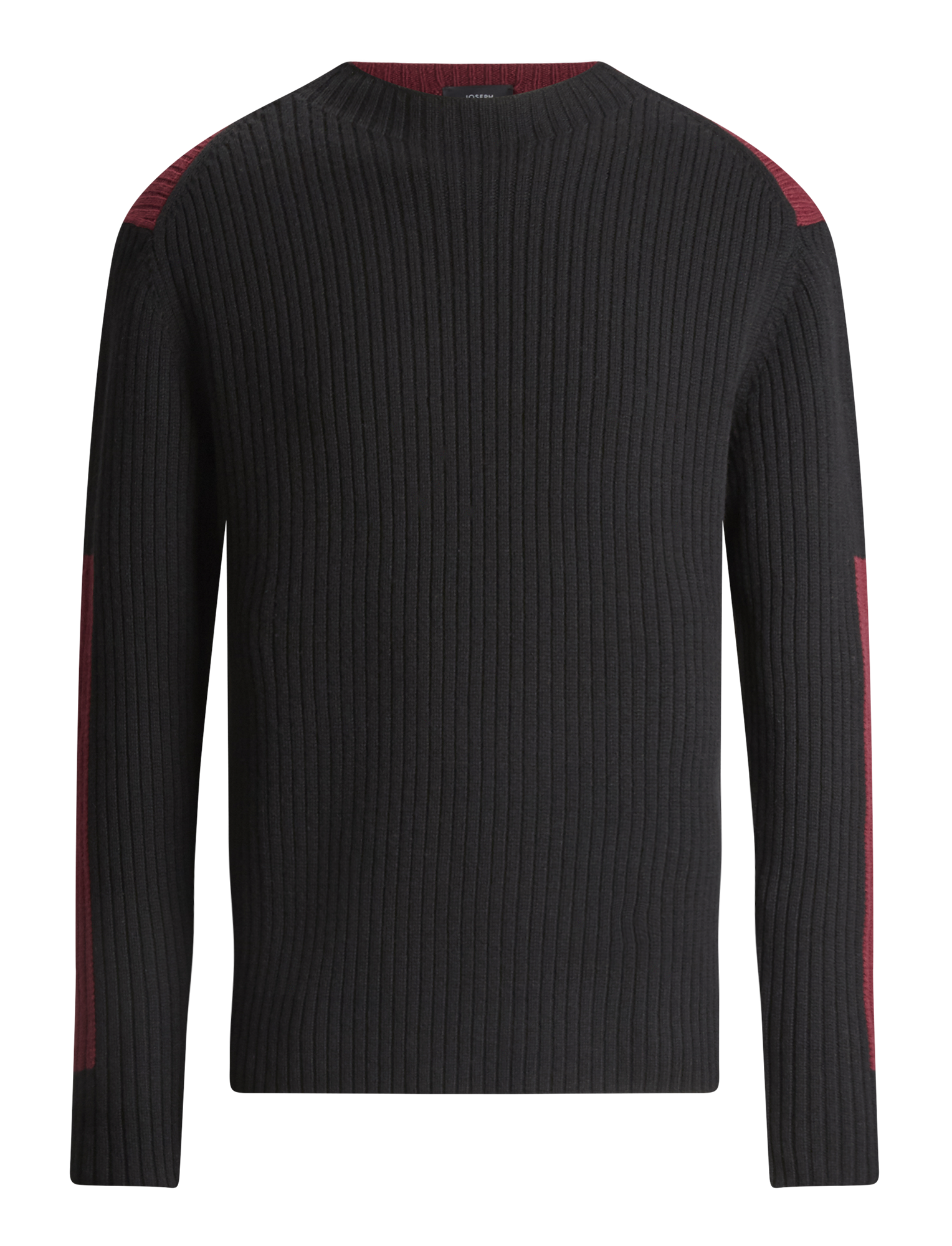 Joseph, Rib Sweater Soft Wool Knitwear, in BLACK