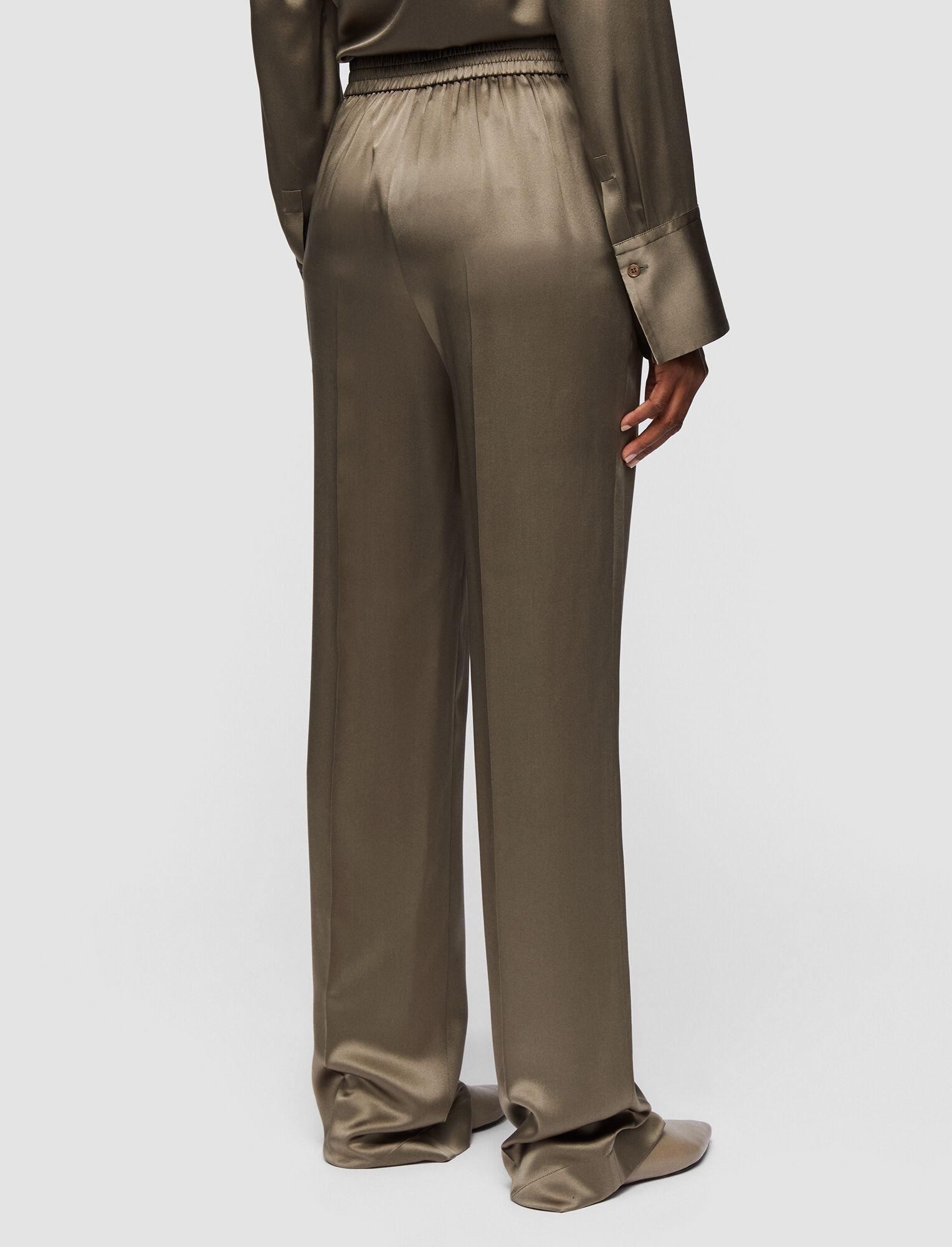 Joseph, Silk Satin Tova Trousers, in ELM