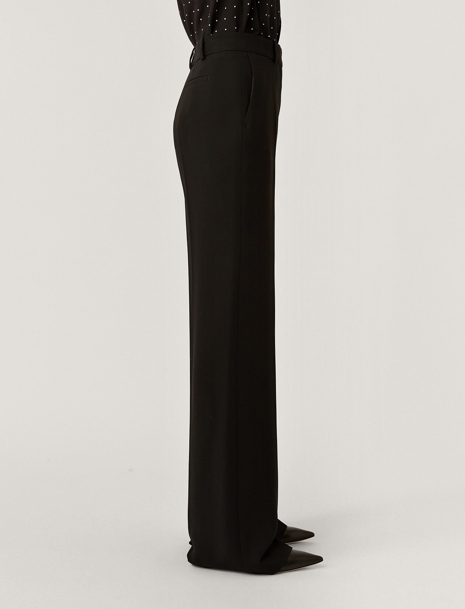 Joseph, New Cady Morissey Trousers, in BLACK