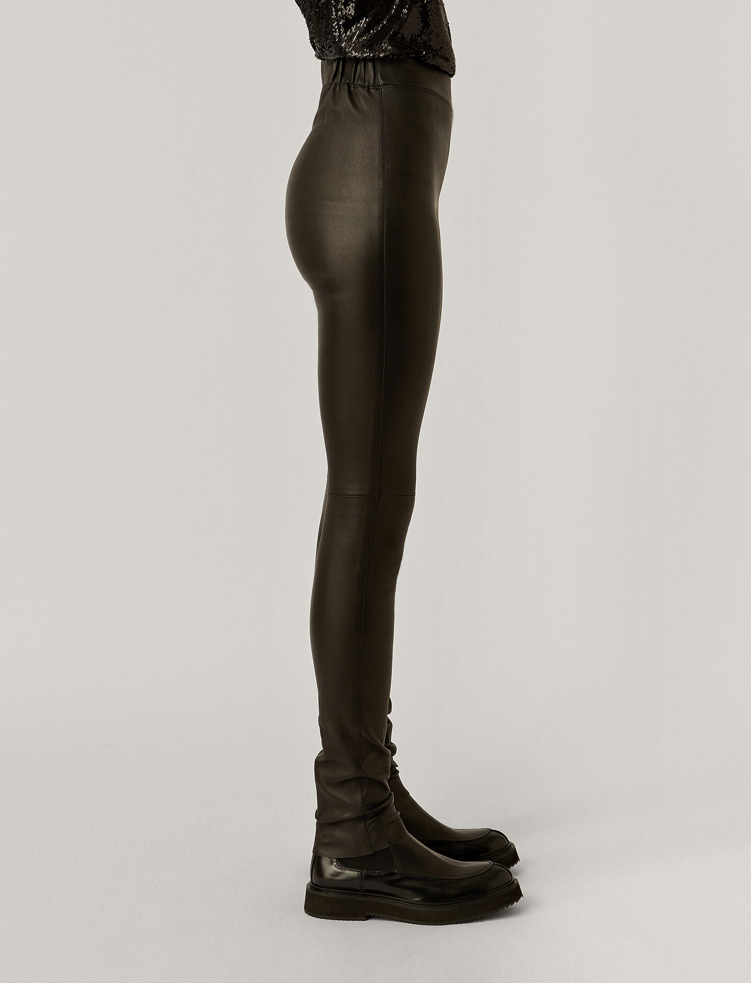 Joseph, Stretch Leather Legging, in BLACK