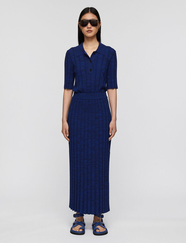 Joseph, Textured Rib Skirt, in COBALT BLUE