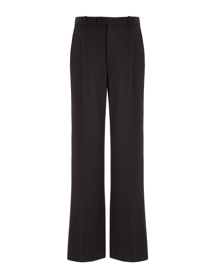 Joseph, Tropez Comfort Wool Trousers, in BLACK