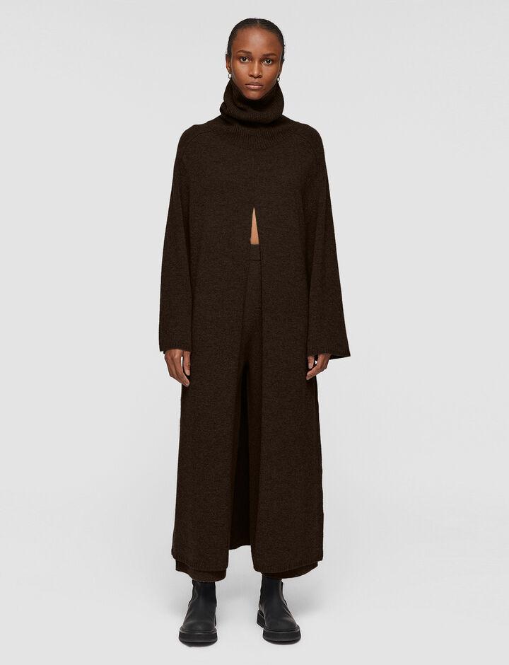 Joseph, Oversize Knit Viviane Dress, in JAVA