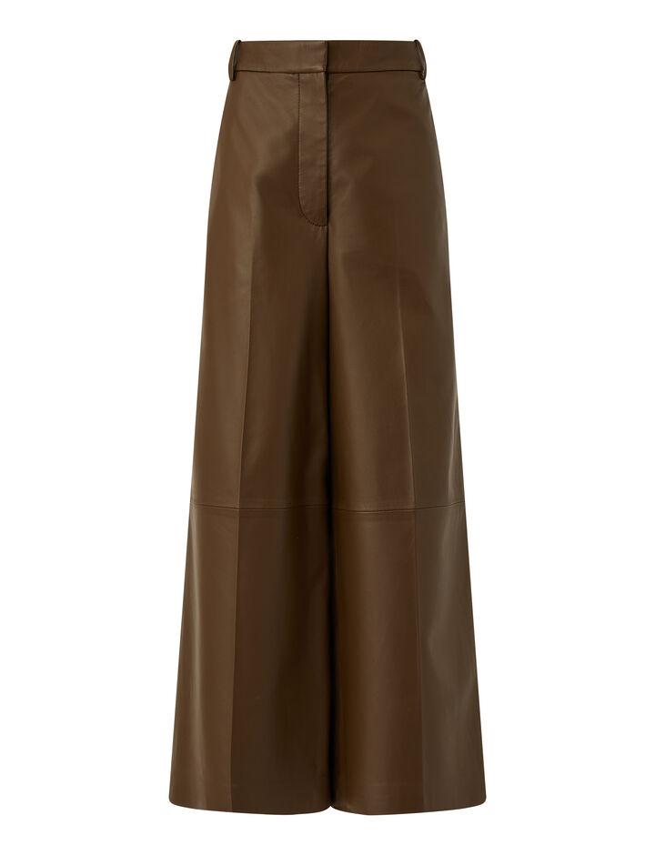 Joseph, Nappa Leather Travis Trousers, in PINECONE