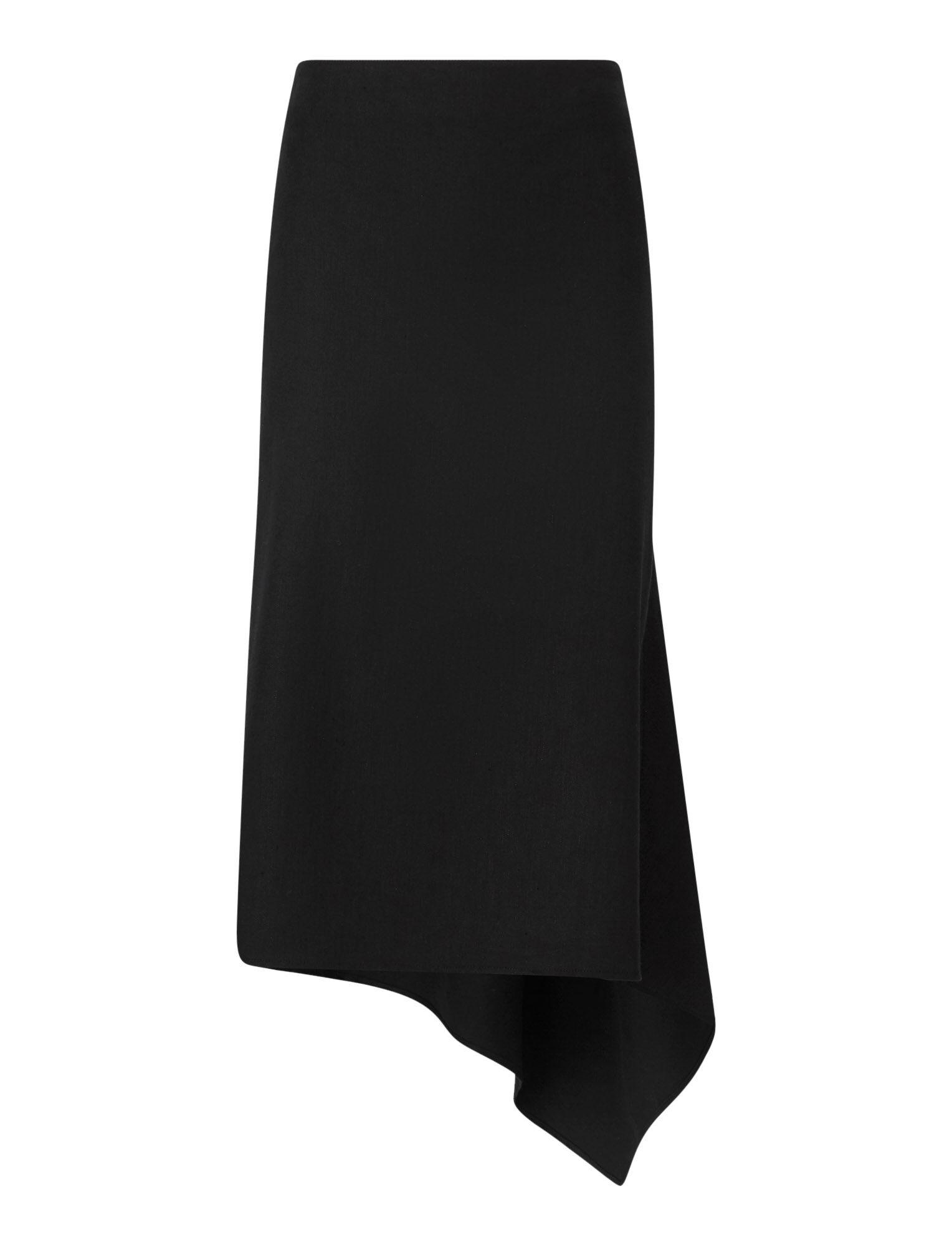 Joseph, Dillion Stretch Linen Skirt, in BLACK