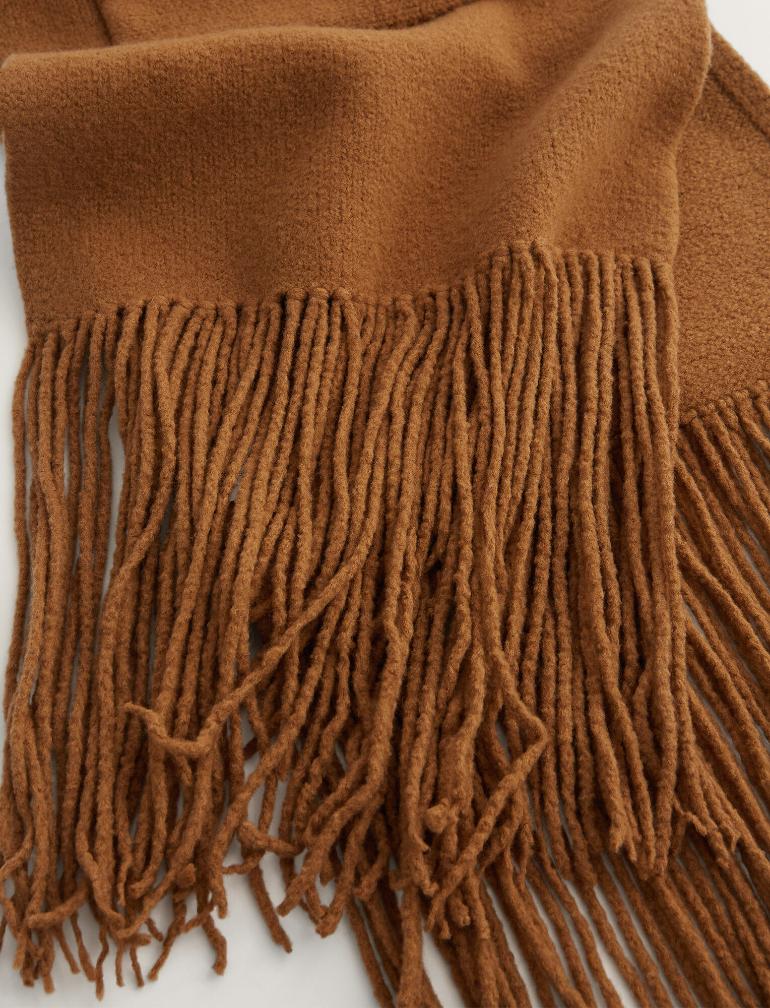 Joseph, Scarf Boiled Wool Knit, in Camel
