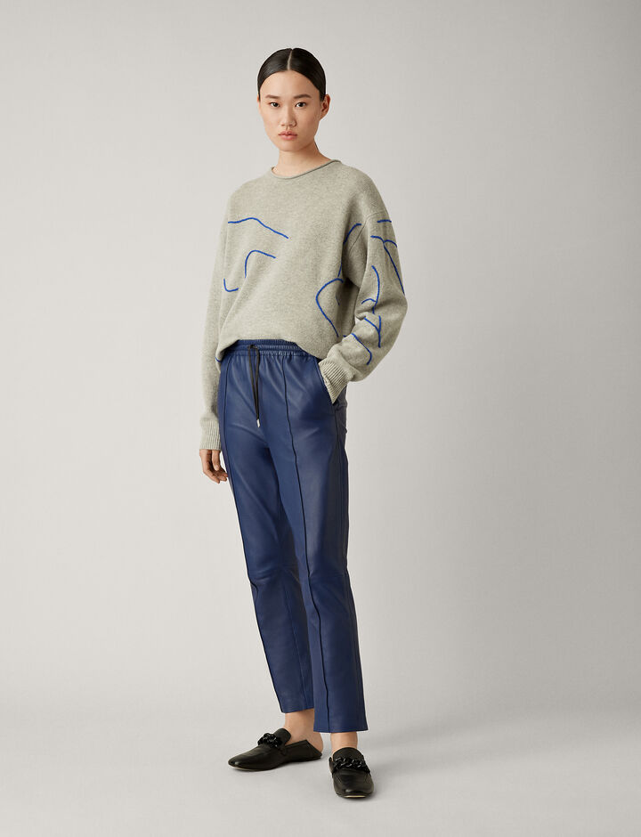 Joseph, Dino Leather Trousers, in SAPHIRE