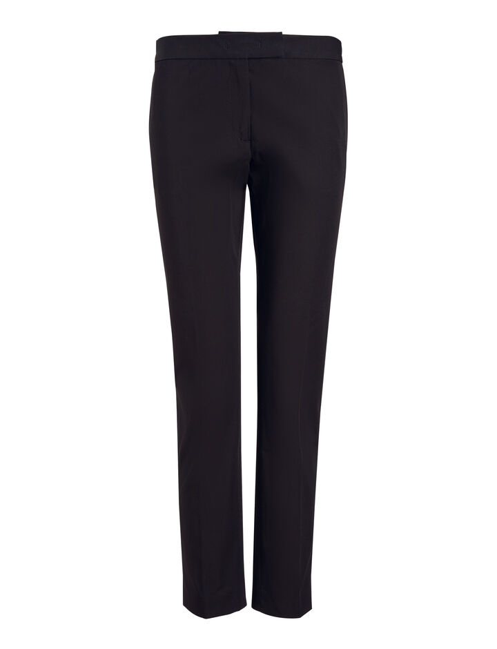 Joseph, Bing Court Polish Cotton Trousers, in NAVY