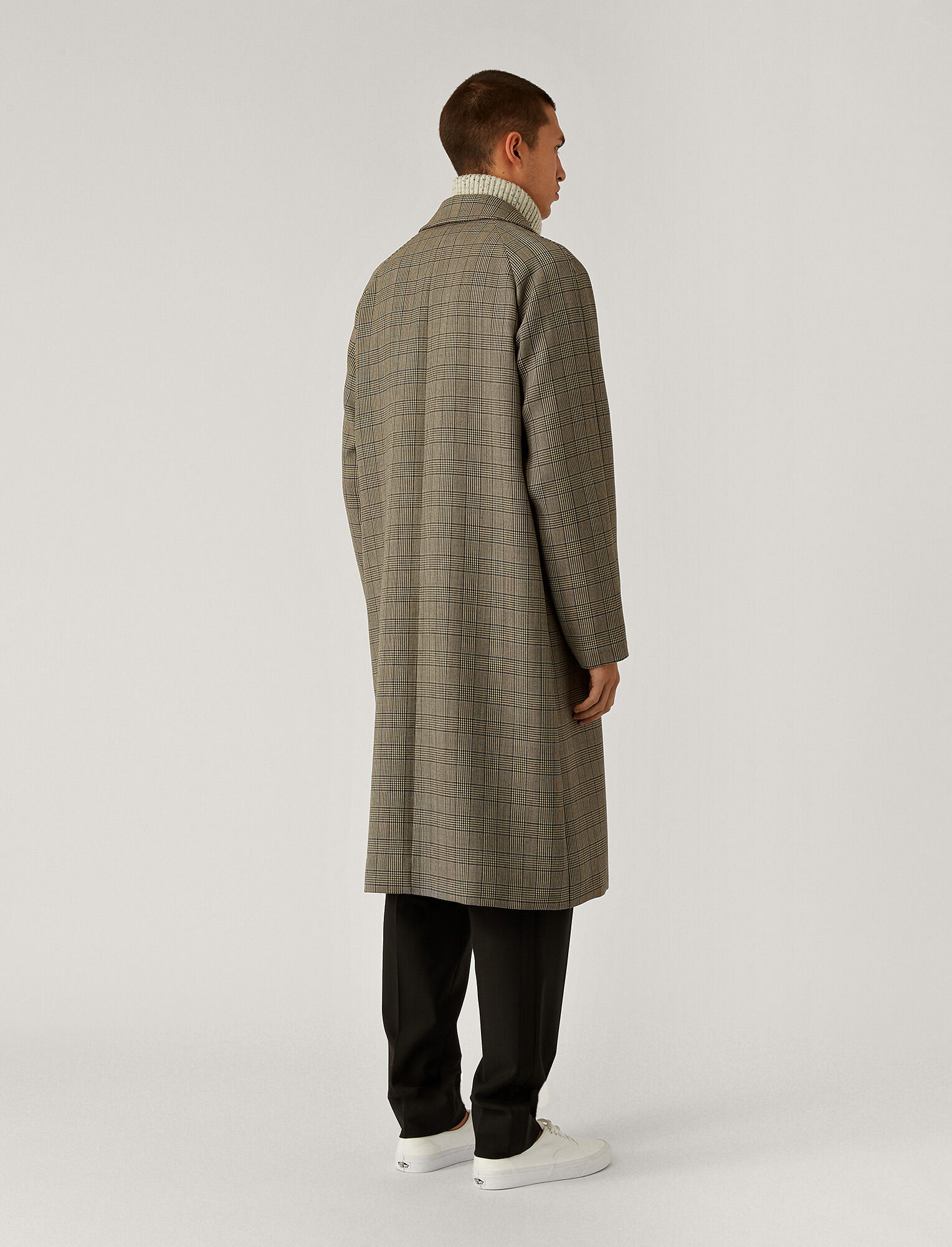 Joseph, Worsted Double Cloth Coat, in Beige