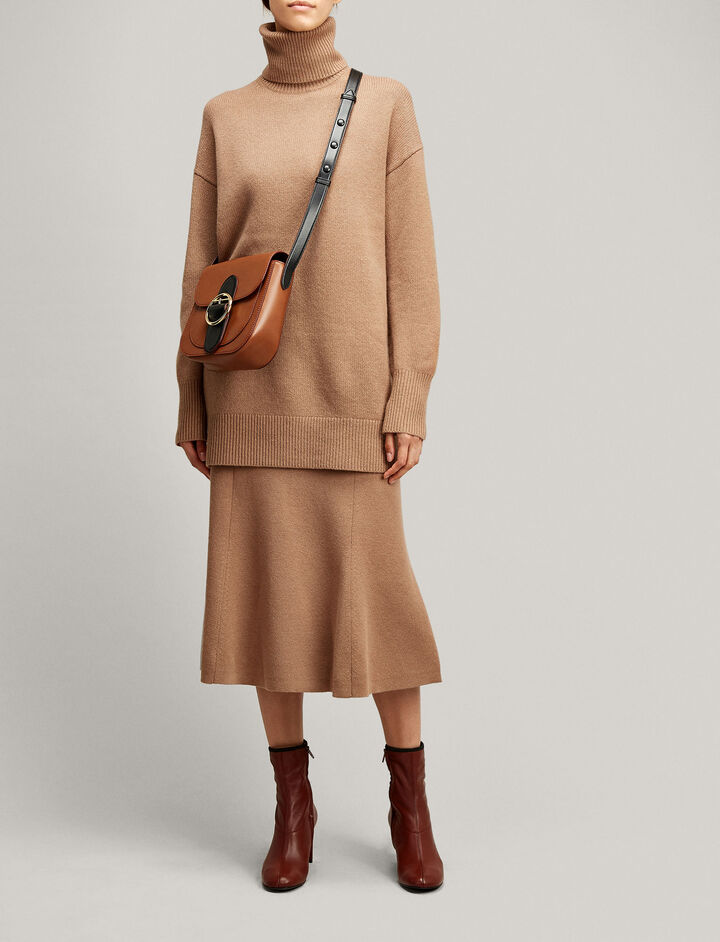 Joseph, Soft Wool Skirt, in CAMEL