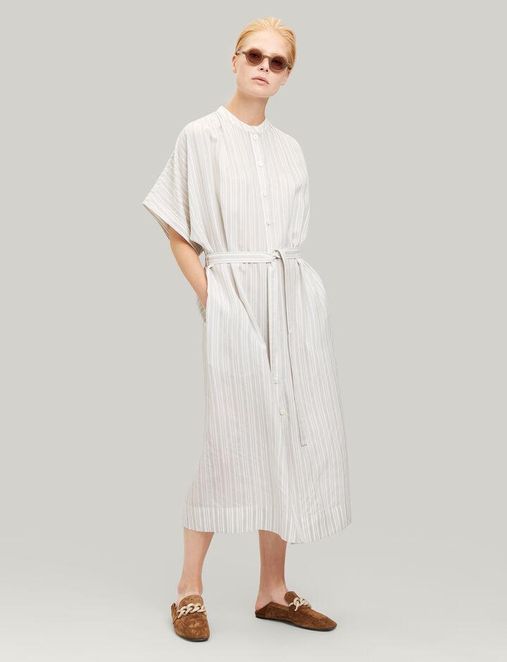 Joseph, Jasper Blanket Stripe Dress, in ECRU