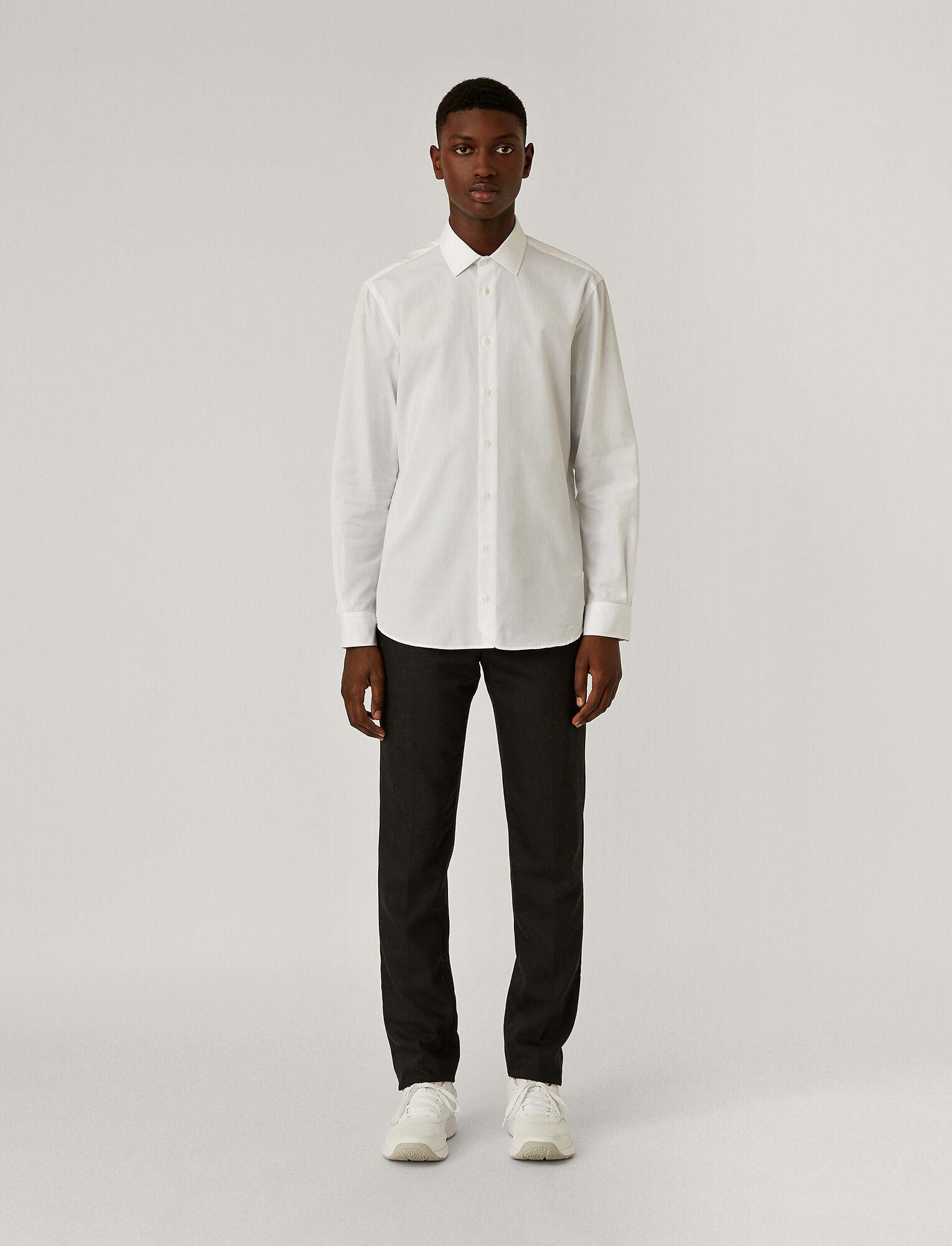 Joseph, John Poplin Shirt, in WHITE