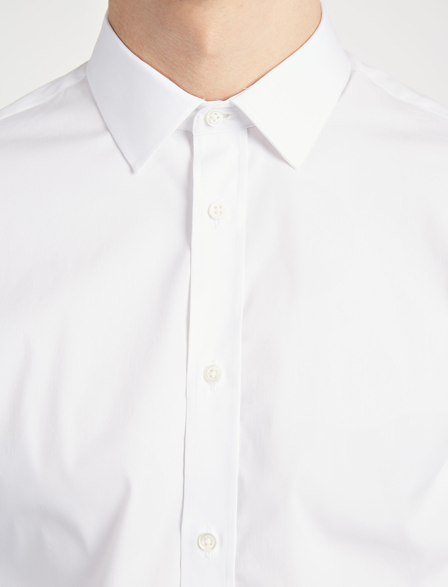 Joseph, Poplin Stretch Jim Shirt, in WHITE