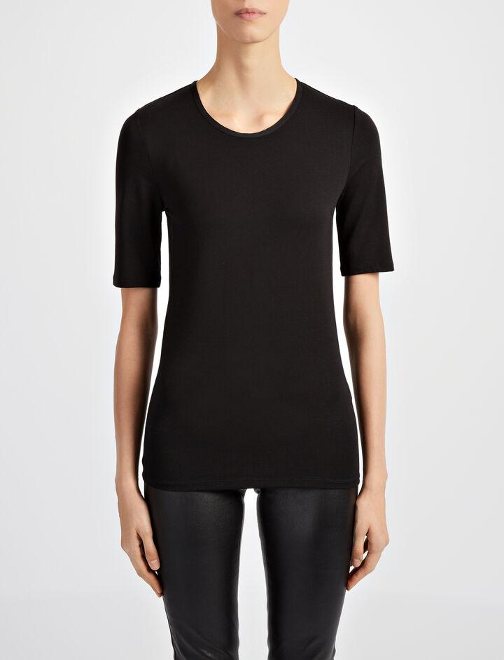 Joseph, Cotton Lyocell Stretch Top, in BLACK