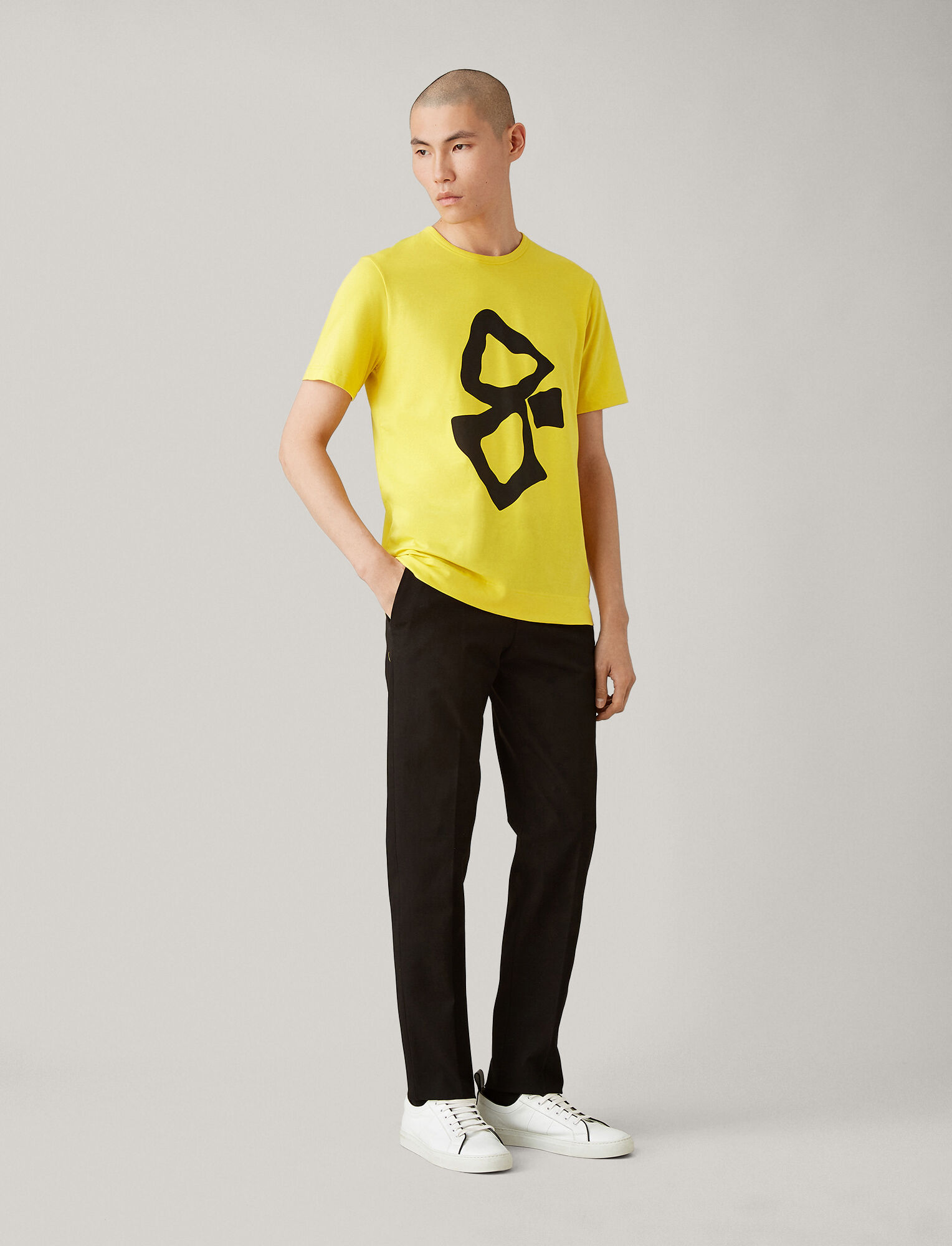 Joseph, Printed Jersey Tee, in LIME