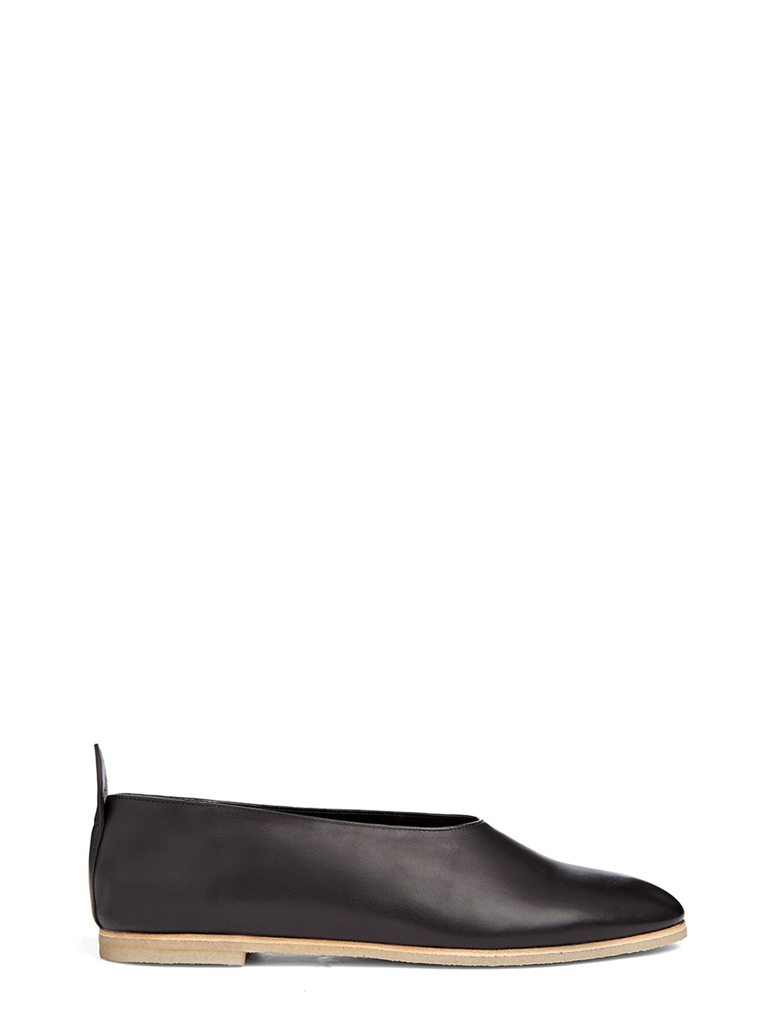 Joseph, Calf Leather Ballerina, in BLACK