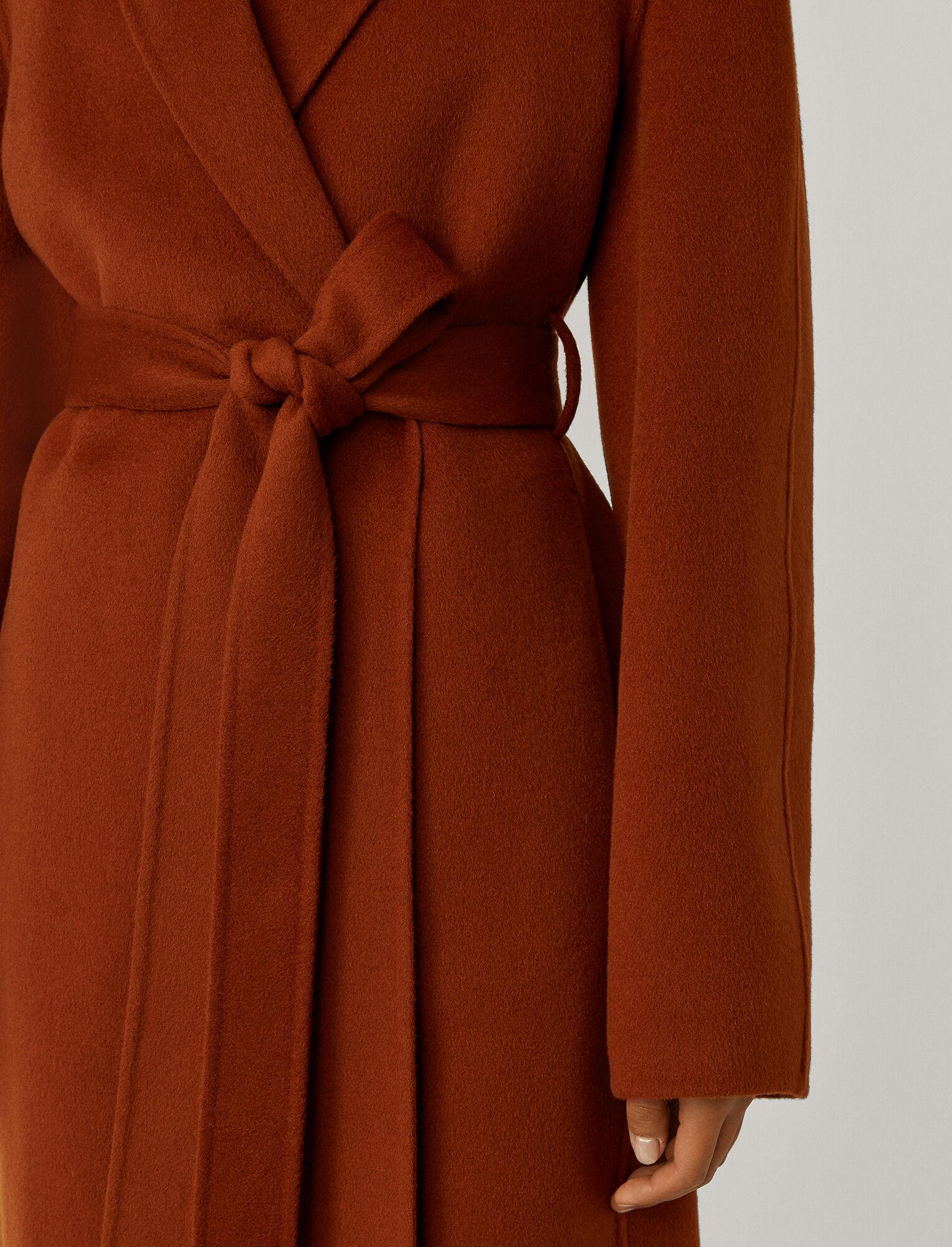 Joseph, Cenda Long Double Face Cashmere Coat, in Fox