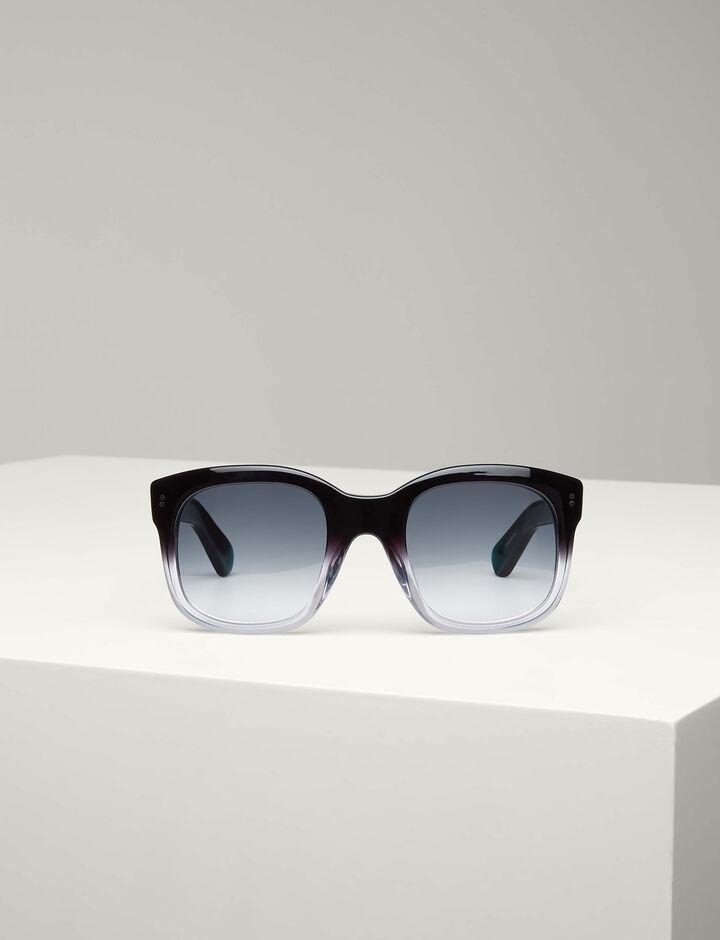 Joseph, Westbourne Sunglasses, in BLACK/TRANSPARENT