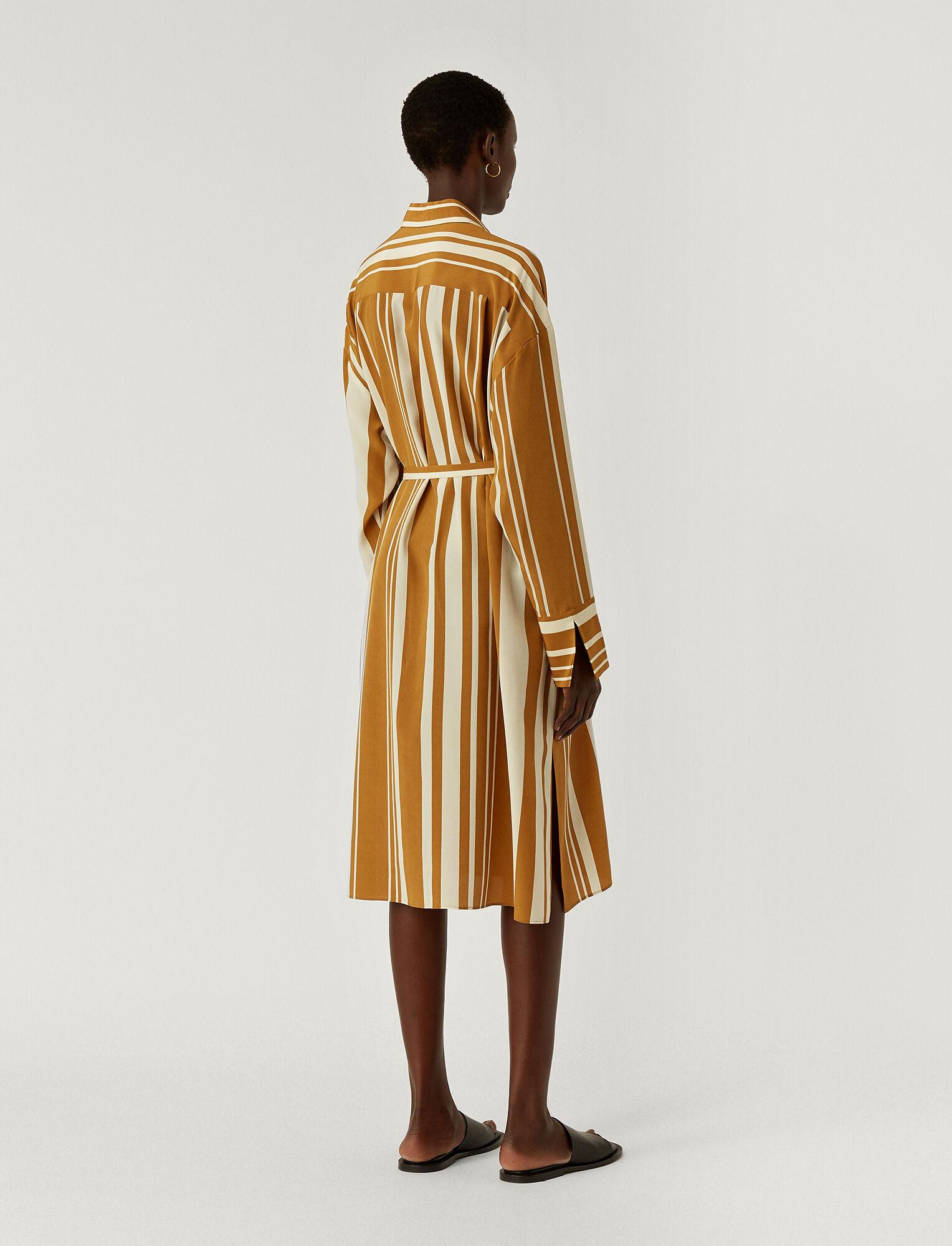 Joseph, Silk Stripes Duras Dress, in GREY/OCRE